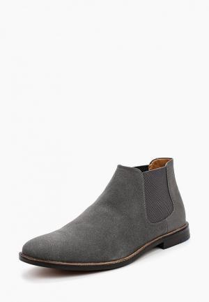 Ботинки Burton Menswear London. Цвет: серый