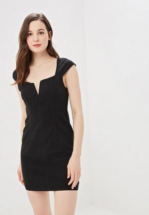 Платье джинсовое Free People. Цвет: черный