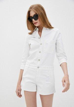 Комбинезон джинсовый Emporio Armani. Цвет: белый