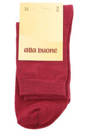 Носки ALLA BUONE. Цвет: красный