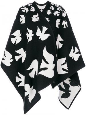 Кейп с нашивками в виде птиц Alexander McQueen. Цвет: чёрный