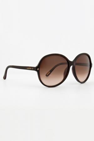 Очки солнцезащитные LANVIN. Цвет: коричневый