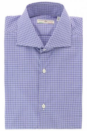 Рубашка LUCIANO BARBERA. Цвет: синий