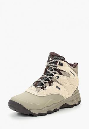 Ботинки трекинговые Merrell. Цвет: бежевый