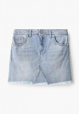 Юбка джинсовая Miss Blumarine. Цвет: голубой