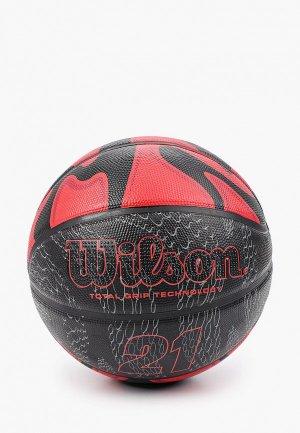 Мяч баскетбольный Wilson. Цвет: красный