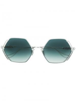 Oversized sunglasses Chrome Hearts. Цвет: металлический