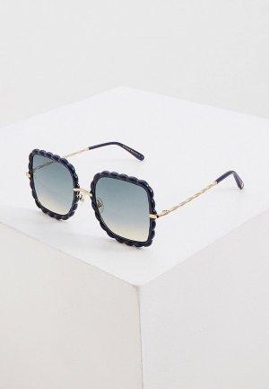 Очки солнцезащитные Elie Saab. Цвет: синий