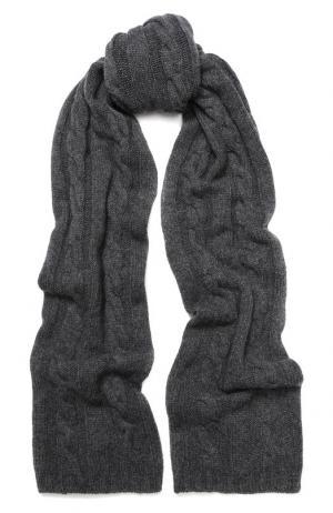 Кашемировый шарф фактурной вязки Kashja` Cashmere. Цвет: темно-серый