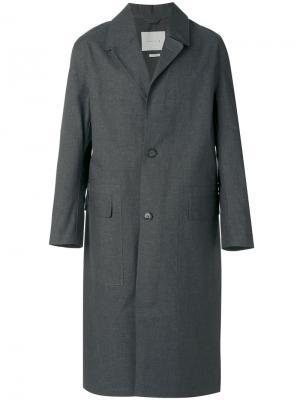Однобортное пальто Mackintosh. Цвет: серый
