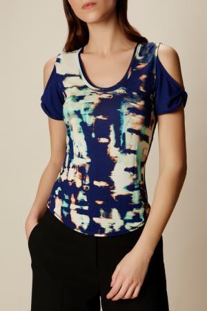 Блузка Karen Millen. Цвет: голубой