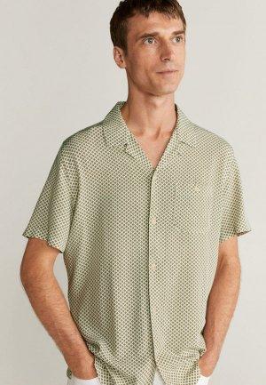 Рубашка Mango Man. Цвет: хаки