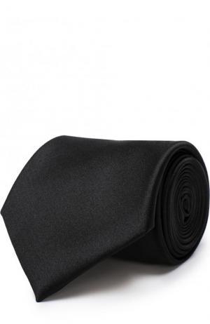 Шелковый галстук Brioni. Цвет: черный