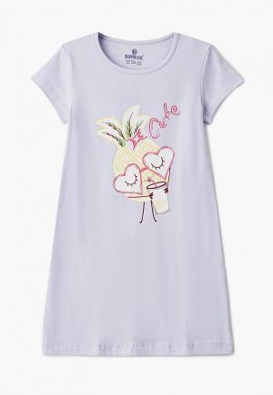 Сорочка ночная Baykar. Цвет: фиолетовый