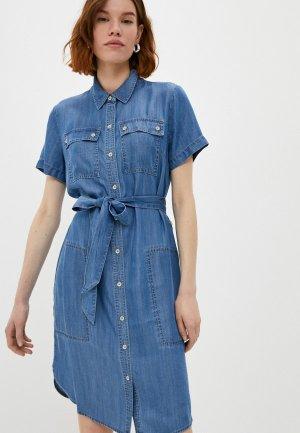 Платье джинсовое DKNY. Цвет: синий