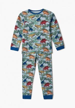 Пижама Cotton On. Цвет: голубой