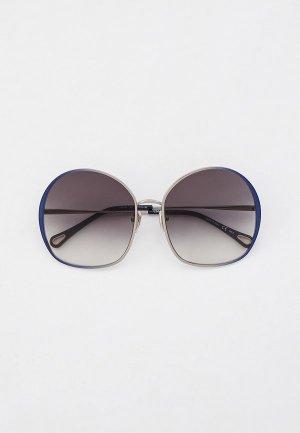 Очки солнцезащитные Chloe. Цвет: серебряный