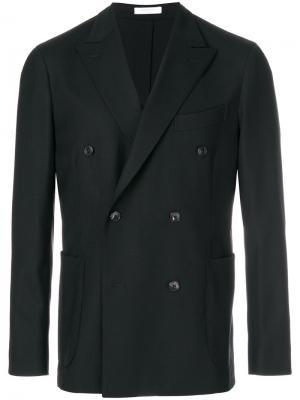 Двубортный пиджак Boglioli. Цвет: чёрный