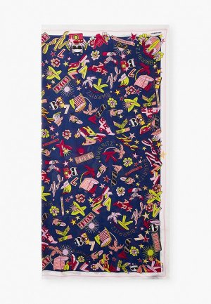 Платок Karl Lagerfeld. Цвет: синий