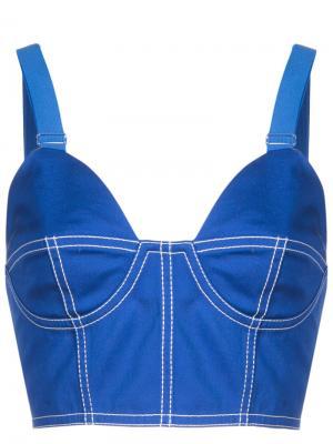 Бюстгальтер-бюстье Givenchy. Цвет: синий