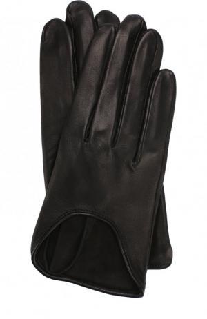 Кожаные перчатки Agnelle. Цвет: черный