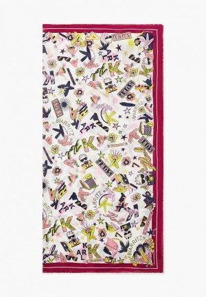 Платок Karl Lagerfeld. Цвет: разноцветный