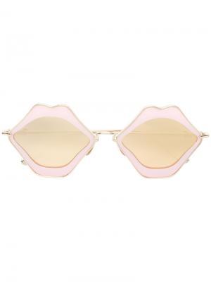 Oversized sunglasses Chrome Hearts. Цвет: розовый и фиолетовый