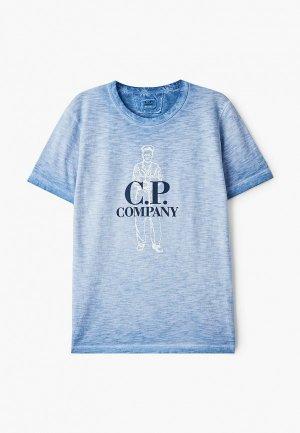 Футболка C.P. Company. Цвет: синий