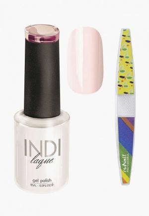 Набор для ухода за ногтями Runail Professional. Цвет: розовый