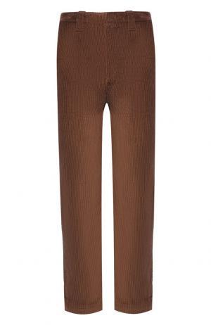 Хлопковые брюки Acne Studios. Цвет: коричневый