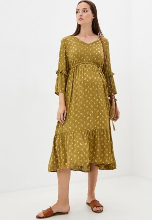 Платье Mamalicious. Цвет: хаки