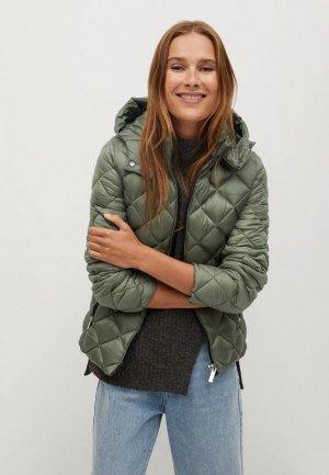 Куртка утепленная Mango. Цвет: зеленый