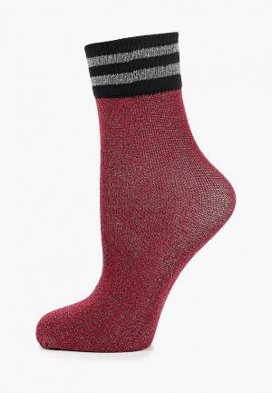 Носки Sisley. Цвет: бордовый