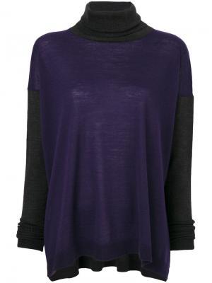 Трикотажный свитер-водолазка Les Copains. Цвет: розовый и фиолетовый