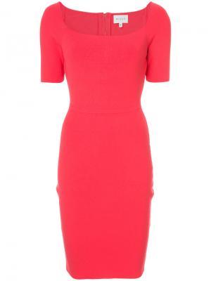 Приталенное платье с квадратным вырезом Milly. Цвет: красный