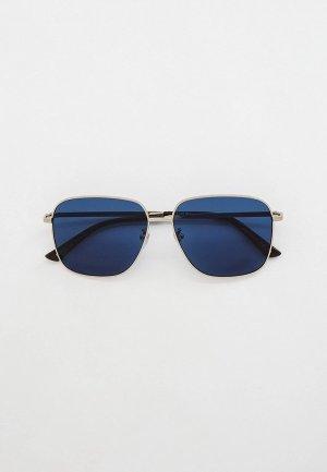 Очки солнцезащитные Gucci. Цвет: серебряный