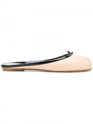 Слиперы с носком разделенным большим пальцем Maison Margiela. Цвет: телесный