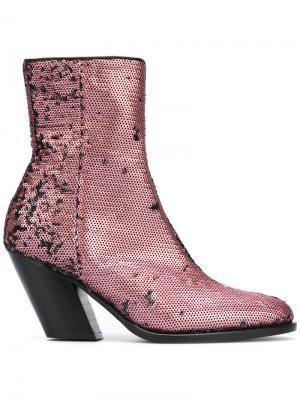 Ботинки с пайетками A.F.Vandevorst. Цвет: розовый и фиолетовый