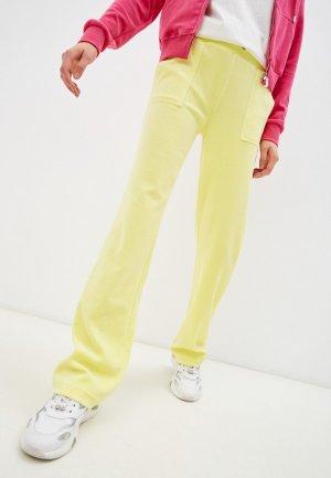 Брюки спортивные Juicy Couture. Цвет: желтый