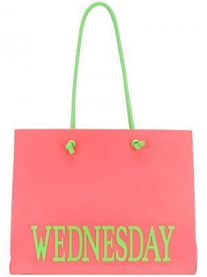 Большая сумка-тоут Wednesday Alberta Ferretti. Цвет: розовый и фиолетовый