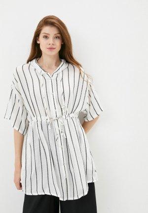 Платье пляжное B.Style. Цвет: белый