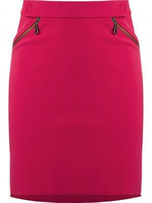 Юбка с завышенной посадкой Gloria Coelho. Цвет: розовый и фиолетовый