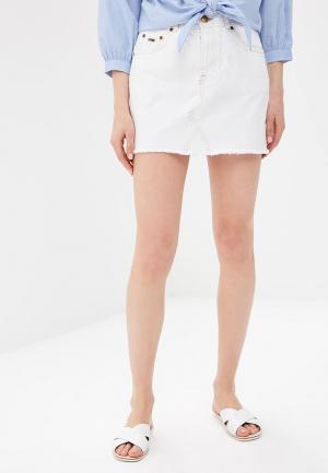Юбка джинсовая Pepe Jeans. Цвет: белый
