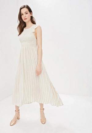 Платье Free People. Цвет: бежевый