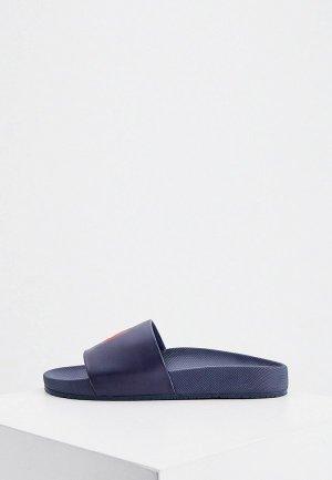 Сланцы Polo Ralph Lauren. Цвет: синий