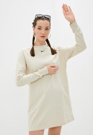 Платье Nike. Цвет: бежевый