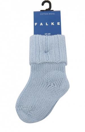 Вязаные носки Falke. Цвет: голубой