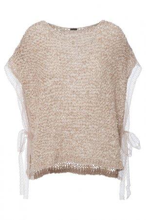 Пончо-пуловер Apart. Цвет: бежевый
