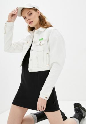 Куртка джинсовая GCDS. Цвет: белый