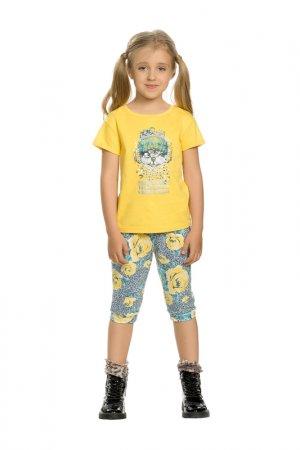Комплект: футболка и бриджи Pelican. Цвет: желтый(11)